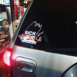 Rich Kids Creations Car Decal