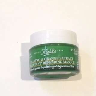 Kiehl's草本香橙抗污染強化面膜 Cilantro & Orange Extract Pollutant Defending Masque sample mask tester 試用 旅行裝