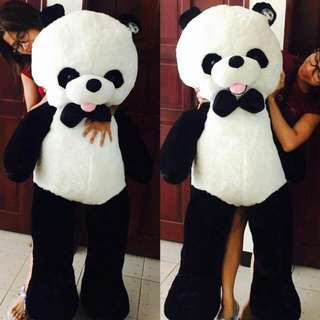 4.5ft (Almost 5ft) Panda Stuff Toy With Bow Tie