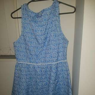 Blue Elwgant Casual Dress