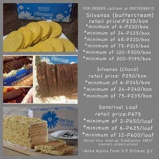 SILVANAS AND SANSRIVAL LOAF BY SANS RIVAL DUMAGUETE FOR SALE - Quezon City Distributor