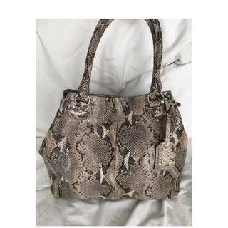 Cole Haan Python Embossed Leather Tote