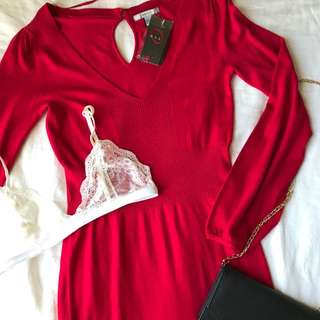 NEW Red Dress Medium