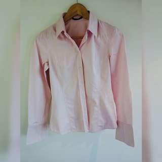 Hugo Boss Pink Shirt - Size 8