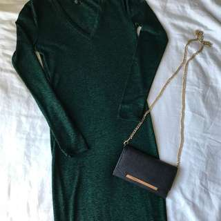 Long Sleeve Bodycon Dress Small