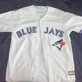 Authentic Toronto Blue Jays Away Jersey with 40th Anniversary Crest On Left Arm