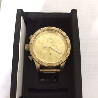 NIXON  51-30  鐘錶行專櫃正品 金色三環錶