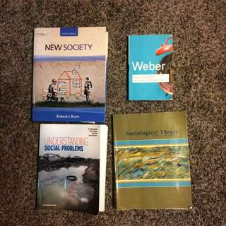 UWO Textbooks (Soc, Crim, Anthro, And English)