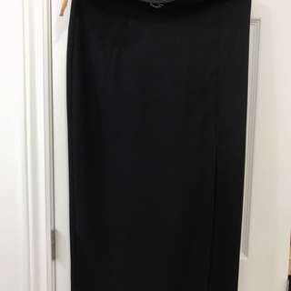 Vintage Black maxi skirt with slit
