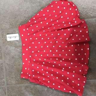 Brand new polka dot skirt