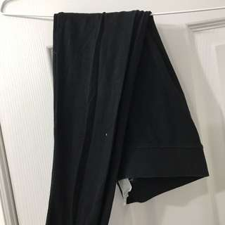American eagle Black leggings with zipper detail on side