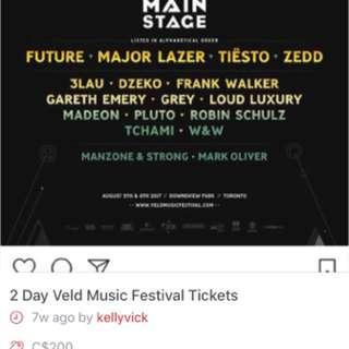 Veld 2 Day Ga Tickets