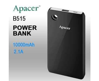APACER DELUXE PORTABLE POWERBANK 10000MAH BLACK COLOR ( B515 BLACK )
