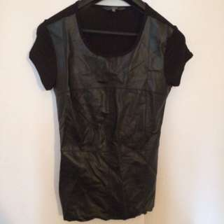 Leather Look Tshirt