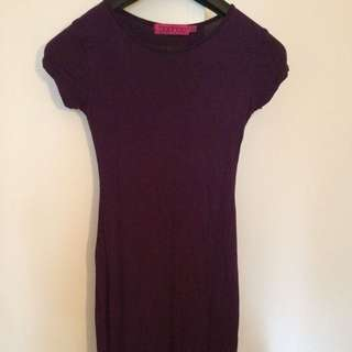 Purple Bodycon Dress