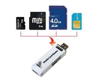 USB All-in-One Card Reader with MicroSD and 3G SIM Support
