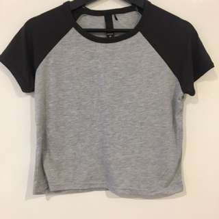 Two Toned Crop Top - Size medium