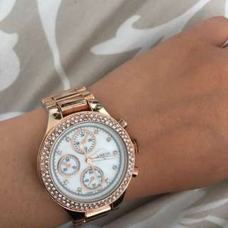 Rose Gold Geneva Watch