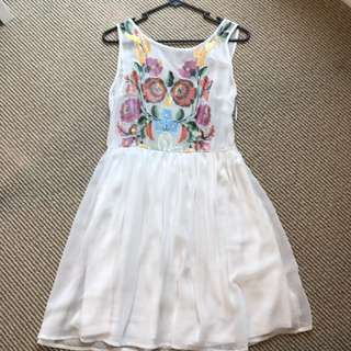 Cute White Summer Dress Size 8