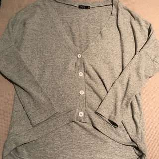 Button Grey Jumper