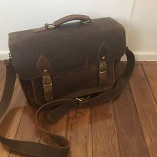 Leather Camera/laptop Bag