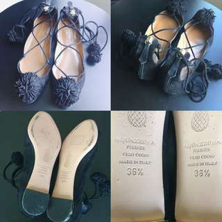 Authentic Aquazzura Sunshine Flats