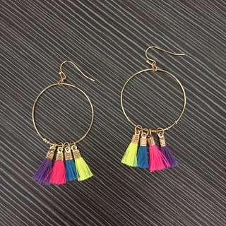 H&M Hoop And Tassel Earrings