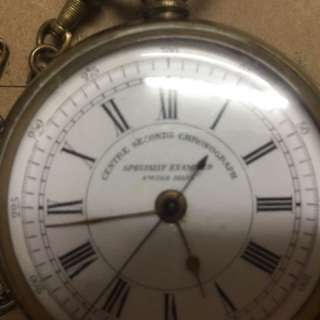 Swiss Made center seconds chronograph watch