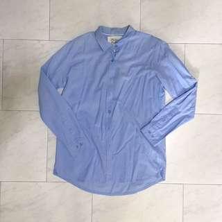 Light Blue Padini Formal Oxford Shirt Outerwear