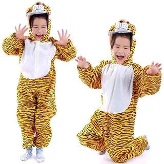 Deluxe Children Tiger Big Head Dress Costume Animal Fairytale Outfit