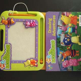 Nick Jr The Backyardigans Book and Sketch board