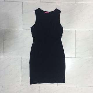 Valleygirl Black Bodycon Mesh Dress