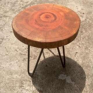 Tree Wood Kayu Side Table Stool