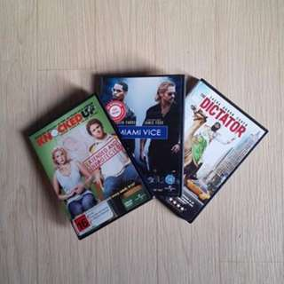 MOVIES DVDS $2 EACH