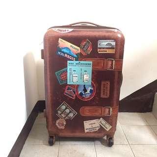 全新24寸復古咖啡色行李箱
