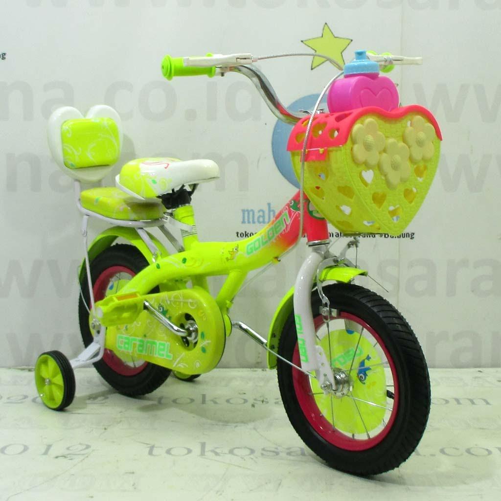 12in Golden Caramel CTB Sepeda Anak Perempuan Usia 2 - 4 Tahun