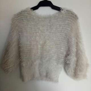 Unbranded Crop Fur Sweater