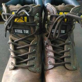 Caterpillar Steel Toe Boots Size 10