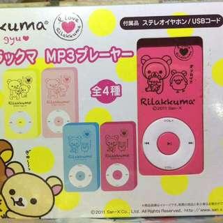 San-X Rilakkuma Bear 鬆弛熊 輕鬆小熊 懶懶熊 I Love系列 桃紅色 Mp3 Player MP3機 景品 全新正版有盒