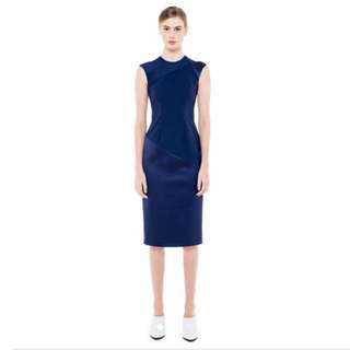 06acca9041 Collate The Label Bonded Satin Dress In Navy Size Xs