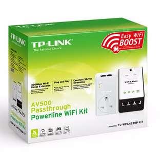 AV500 Passthrough Powerline Wi-Fi Kit TL-WPA4230P KIT