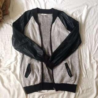 Meters/bonwe Knitted Bomber Jacket