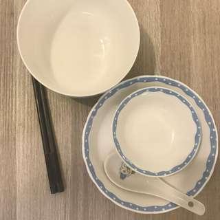 全瓷整組碗筷