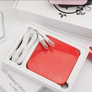 Led Makeup Mirror With Power Bank