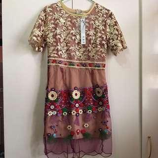 Colorful Lace Dress