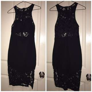 Valleygirl Black Lacey Dress
