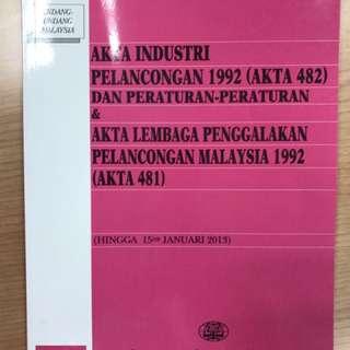 Akta Industri Pelancogan 1992 & Akta Lembaga Penggalakan Pelancongan Malaysia 1992