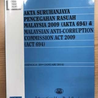 Akta Suruhanjaya Pencegahan Rasuah