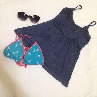 bikini top and cover-up