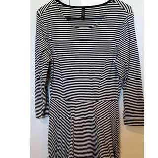 Striped Dress - Miss Shop Size 10